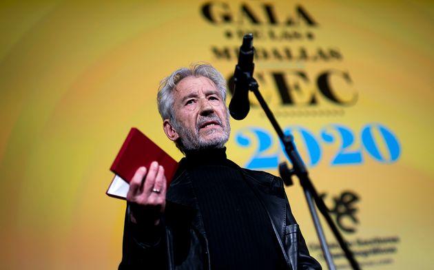 José Sacristán, recibiendo el Premio CEC de honor el 20 de enero de 2020 en Madrid (Samuel...