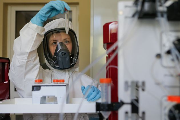 Laboratorio donde se desarrolla la vacuna rusa, el 6 de agosto de 2020(Alexander Zemlianichenko Jr/ Russian...