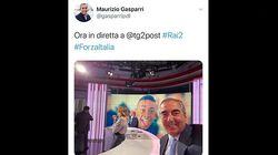 Il selfie sorridente di Gasparri in tv con Willy sullo sfondo: è polemica, lui cancella il