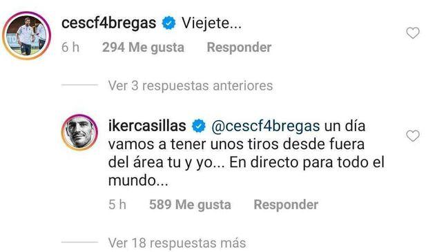 Casillas y Fábregas se vacilan en