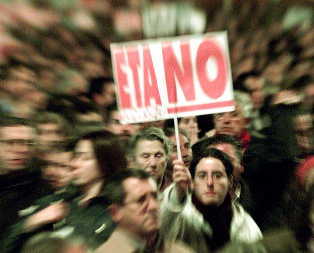 Imagen de archivo de una movilización contra ETA en el País