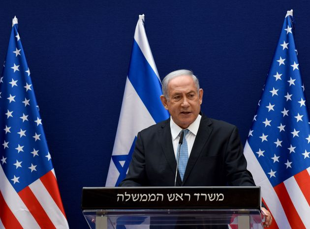 Israeli Prime Minister Benjamin Netanyahu makes joint statements to the press with US Presidential Adviser...