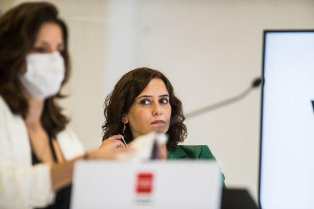 Isabel Díaz Ayuso, en una comparecencia de