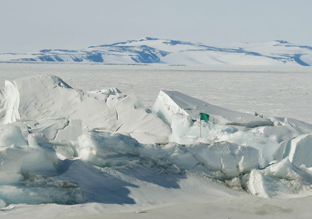 A frozen section of the Ross Sea at the Scott Base is pictured in Antarctica Saturday, Nov. 12,