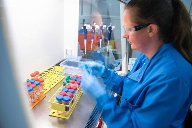 英オックスフォード大で開発されている新型コロナウイルスのワクチン(同大提供)