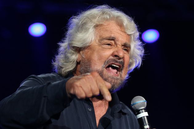 NAPOLI, ITALY - 2019/10/12: The politician and comic, Beppe Grillo, during the Italy 5-Star event. (Photo...