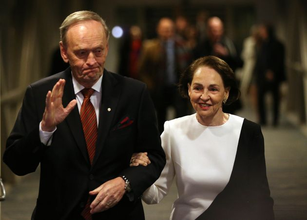 Jean Chretien arrives with his wife Aline at a tribute dinner in his honour at the Westin Harbour Castle...