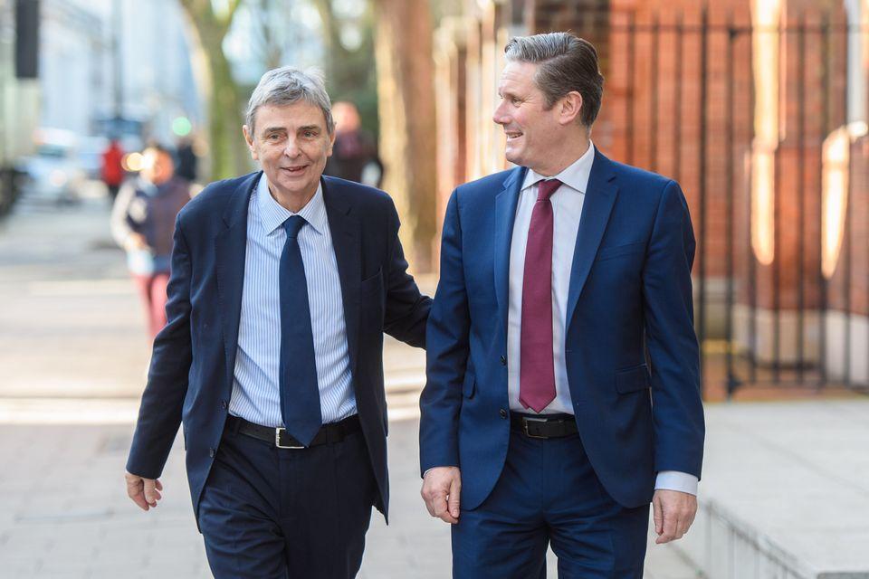 Outgoing Unite general secretary Dave Prentis endorsing Starmer earlier this year for Labour