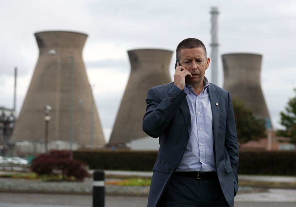 Unite's assistant general secretary Howard Beckett outside the Ineos Grangemouth petrochemicals