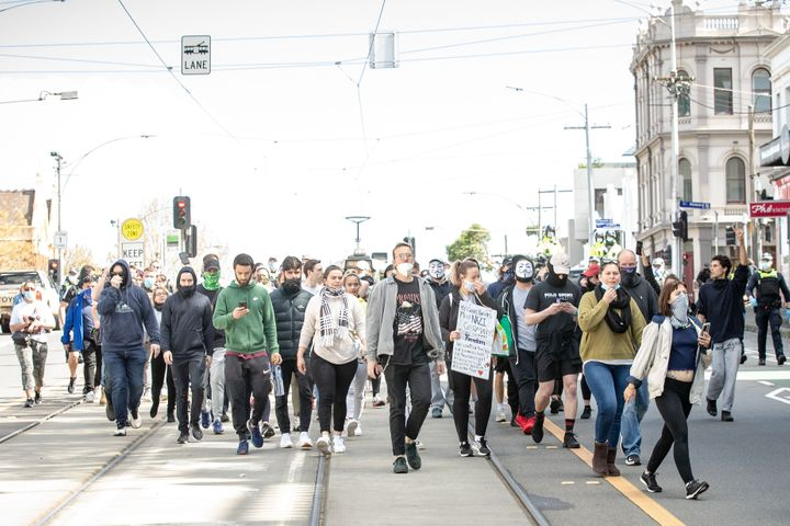 While organisers claim the gathering is legal, Victoria Police said they would be monitoring protest activity, with anyone considered to be breaching the Chief Health Officer's directives liable for a fine of $1652.