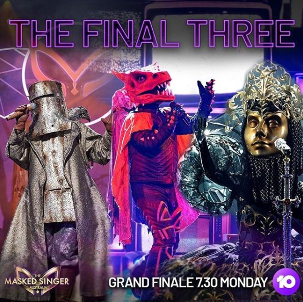 The Bushranger, The Frillneck and The Queen from The Masked Singer Australia
