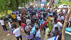 NEET 2020: Crowds Outside NEET Centres Belie Govt Claim Of Social Distancing