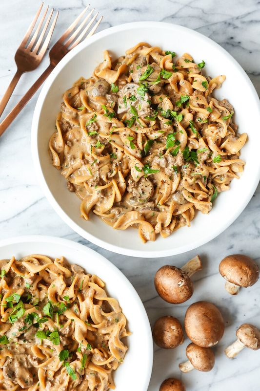 One-Pot Beef Stroganoff from Damn Delicious