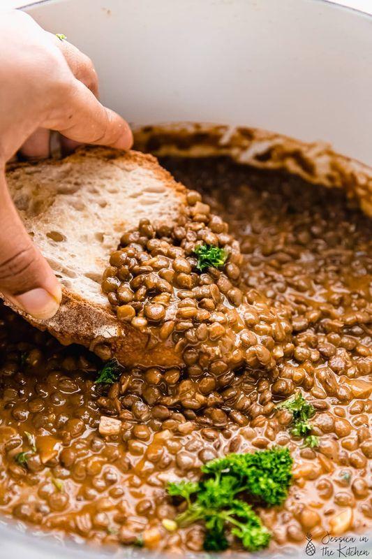 Vegan Lentil Stew from Jessica In The Kitchen