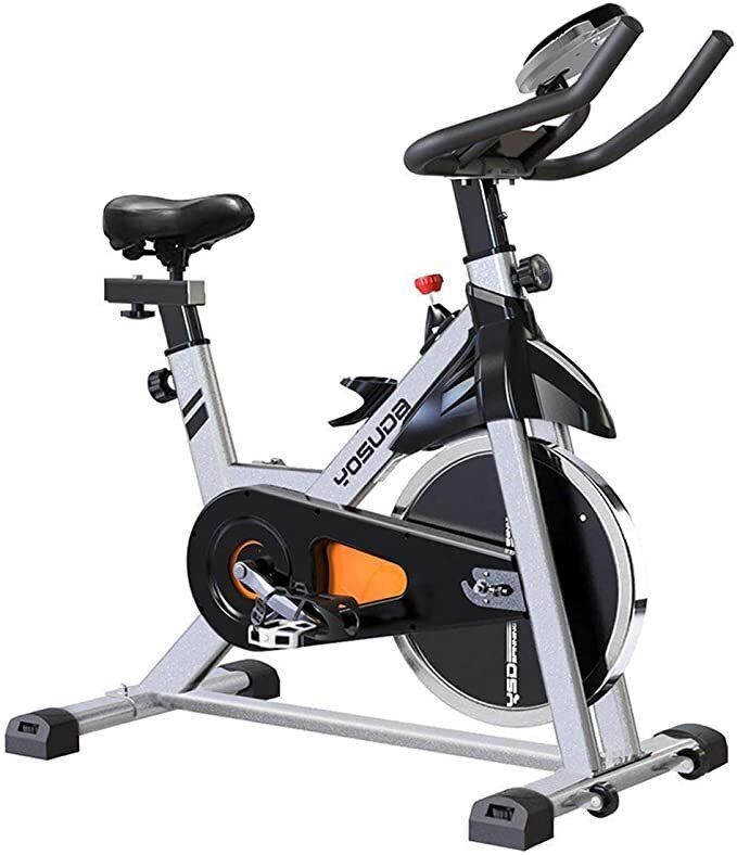 "Yosuda Stationary Bike, <a href=""https://www.amazon.com/YOSUDA-Indoor-Cycling-Bike-Stationary/dp/B07D528W98"" target=""_blank"" rel=""noopener noreferrer"">$339.99</a>"