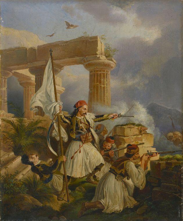 Peter von Hess (1792-1871). Έλληνες μάχονται...