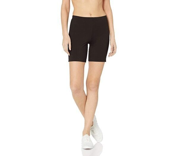 "Hanes Women's Stretch Jersey Bike Shorts, <a href=""https://www.amazon.com/Hanes-Womens-Stretch-Jersey-Short/dp/B01I21CI7G"" target=""_blank"" rel=""noopener noreferrer"">$6.65 - $16.98</a>"