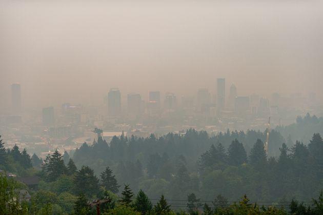 Fumo a Portland causato dagli