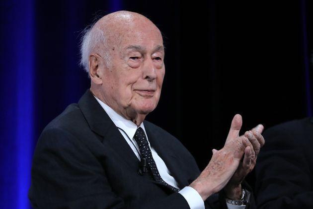 Valéry Giscard d'Estaing en juin 2019 lors d'une cérémonie pour le cinquantième...
