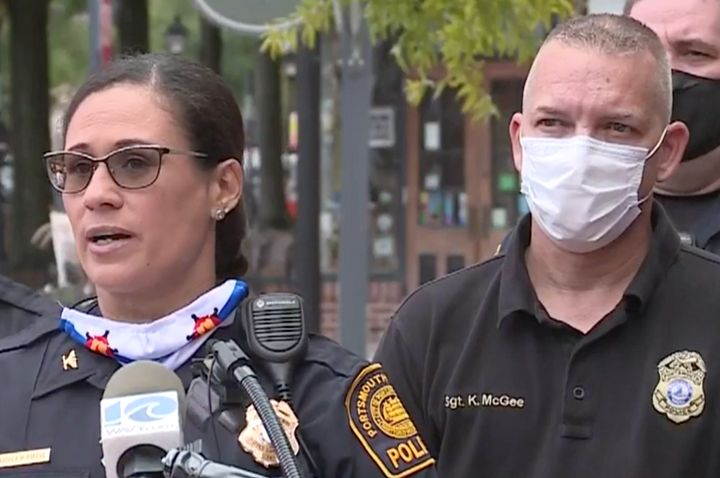 Portsmouth Police Chief Angela Greene praised Sgt. Kevin McGee for a letter he wrote that blasted a state senator he'd later