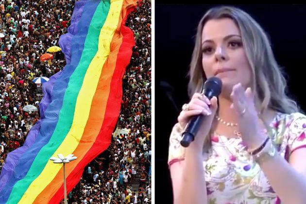 Parada LGBT do Rio de Janeiro, que recebeu 500 mil pessoas em 2019; a pastora Ana Paula Valadão...