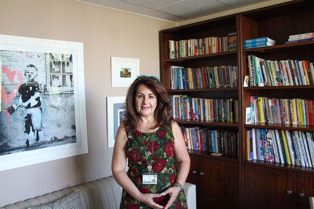Η πρόεδρος του ACS Athens, Dr. Peggy Pelonis.