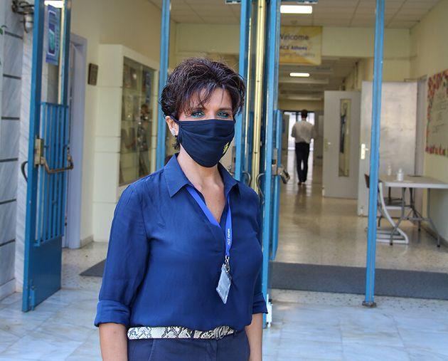 Η υποδιευθύντρια του ACS Athens, Ms. Evelyn Pittas.