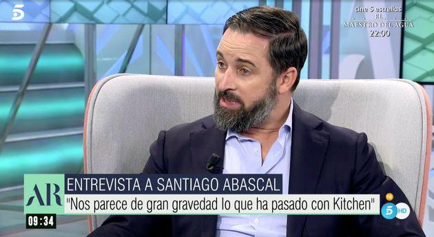 Santiago Abascal, este martes en 'El programa de Ana