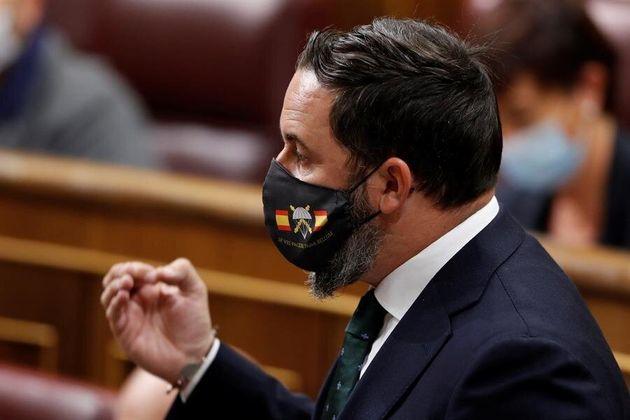 Santiago Abascal, en el Congreso con una mascarilla de la