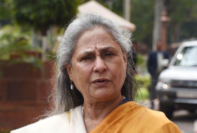 NEW DELHI, INDIA - MARCH 5: Rajya Sabha MP Jaya Bachchan leaves after attending Budget Session at Parliament...