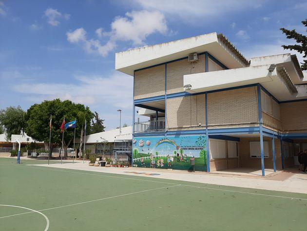 El patio del colegio Joaquín Carrión, del municipio murciano de San