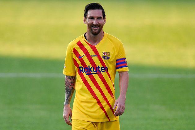Lionel Messi, ici au mois de septembre 2020 près de Barcelone, a remporté le Ballon d'or...