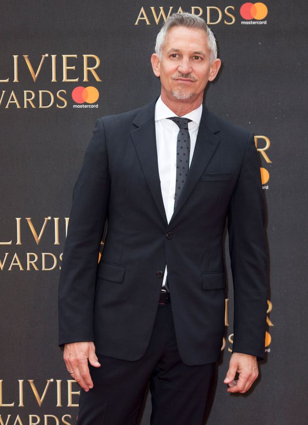 Gary Lineker arriving for The Olivier Awards at the Royal Albert Hall in
