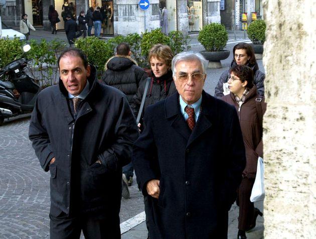 Carlo La speranza sin e Italo Ormanni entrano palazzo di giustizia a
