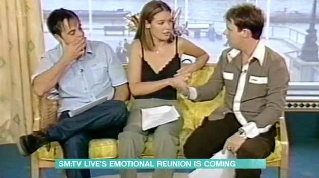 Ant, Dec and Cat during their SM:TV Live screen test in
