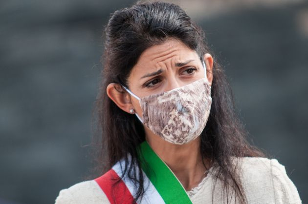 Mayor of Rome Virginia Raggi participates in the commemoration of the Battle of Montagnola on September...