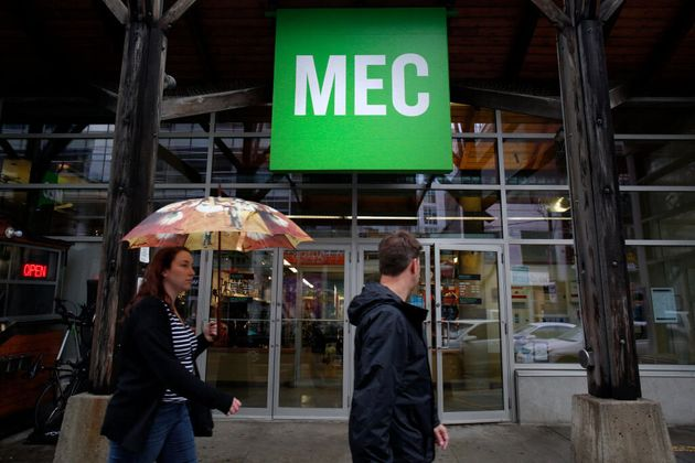 People walk by a MEC store in downtown Toronto in 2015. MEC chair Judi Richardson said it was a...