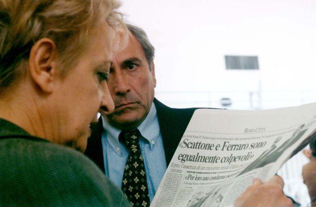 MARTA RUSSO: PM CHIEDE 18 ANNI PER SCATTONE E FERRARO- I genitori di Marta Russo ripresi oggi in aula...
