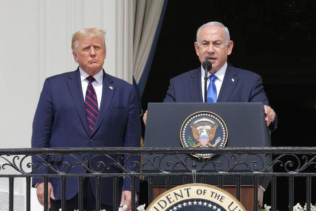 Benjamin Netanyahu et Donald Trump à Washington lors de la signature d