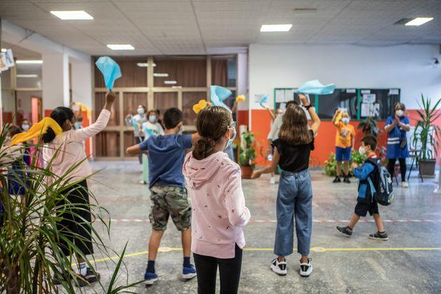 14/09/2020 Milano, riapertura delle scuole dopo sei mesi di chiusura forzata dovuta all'emergenza Coronavirus;...