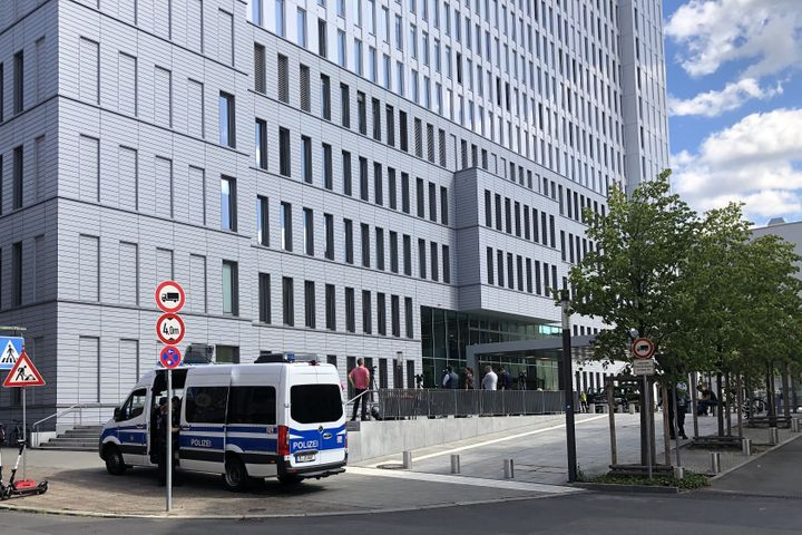 A view of Berlin's Charite hospital, where Russian opposition activist Alexei Navalny receives treatment.