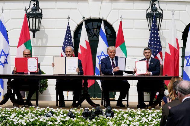 Υπογραφή των συμφωνιών για την ομαλοποίηση των σχέσεων του Ισραήλ με Μπαχρέιν και