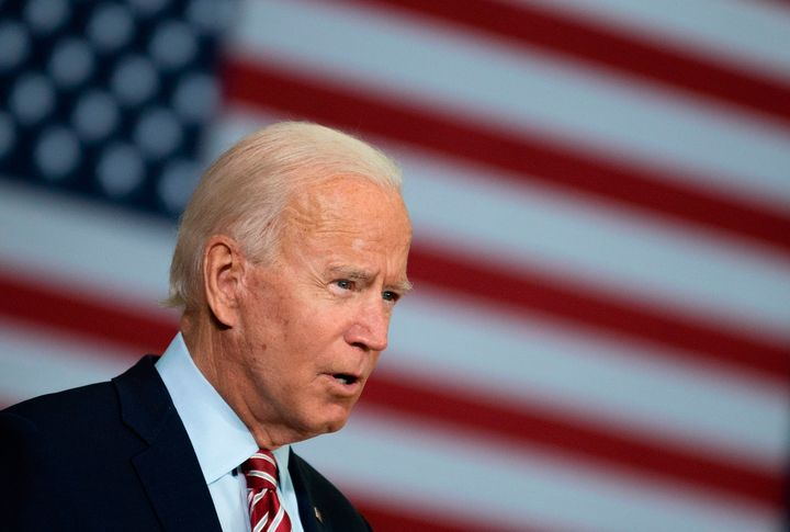 Democratic presidential candidate Joe Biden speaks in Tampa, Florida, on Sept. 15, 2020, during a roundtable discussion with