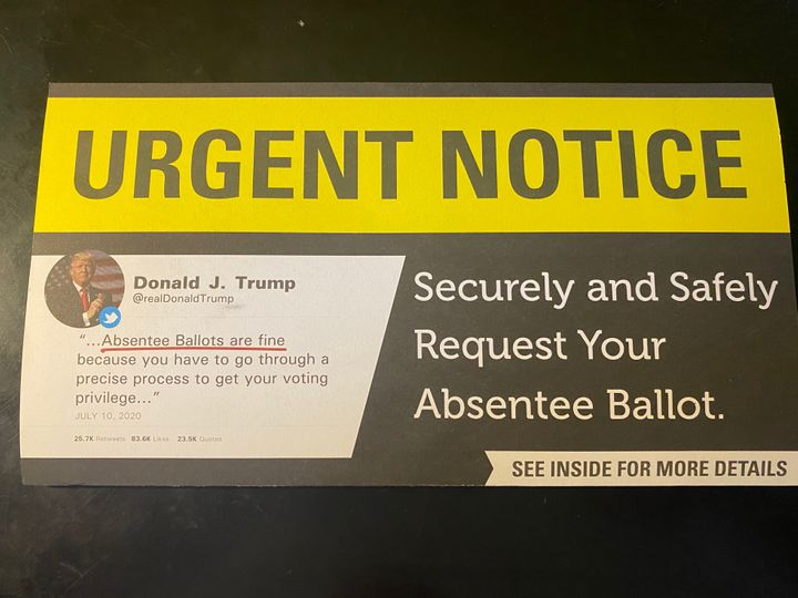 The South Carolina GOP is sending out a mailer that manipulates a tweet from President Donald Trump to make it appear that he