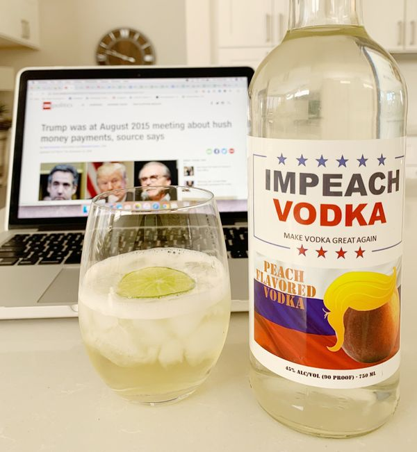 "Is Trump's presidency getting to be a bit much for you? This peachy keen&nbsp;<a href=""https://www.impeachvodka.com/"" target="