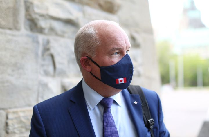 Conservative Party of Canada leader Erin O'Toole on Parliament Hill in August.