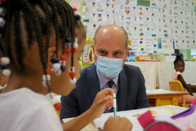 Jean-Michel Blanquer dans une école de Châteauroux le 1er septembre