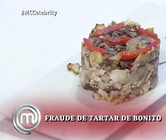 Fraude de tartar, plato de Celia Villalobos en 'MasterChef Celebrity
