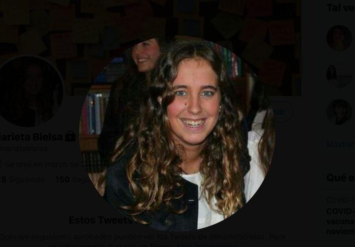 El perfil de Twitter de Marieta Bielsa.