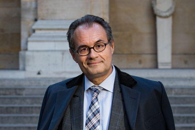 L'ancienne plume de Nicolas Sarkozy, Camille Pascal, devant l'Académie française le 25...